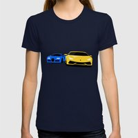 Lamborghini & Bugatti Womens Fitted Tee Navy SMALL