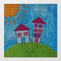Canvas Print featuring Home Sweet Home by Cally's Creations