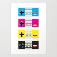 CMYK Retro Gamer  Art Print
