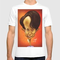 Aung San Suu Kyi Mens Fitted Tee White SMALL