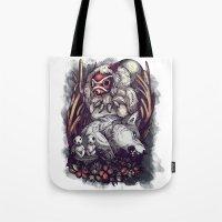 The Wolf Princess Tote Bag