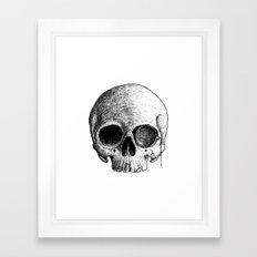 MONOCLE SKULL Framed Art Print