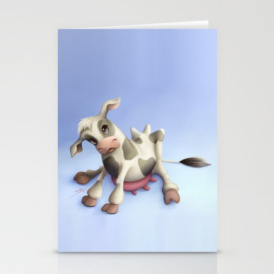 Little cow Stationery Card