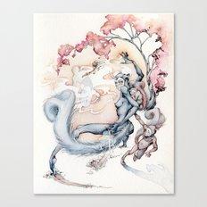 ninja squirrel Canvas Print
