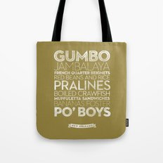 New Orleans — Delicious City Prints Tote Bag