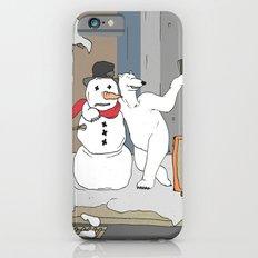 Selfie - Polar Bear and Snowman iPhone 6 Slim Case