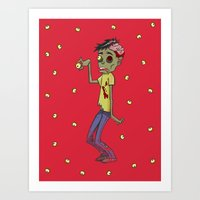 Zombie Watch Art Print