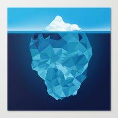 Iceberg Polygon Canvas Print