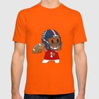 American Football II Mens Fitted Tee Orange SMALL