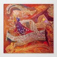 golden maze Canvas Print