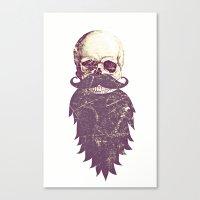 Beard Skull 3 Canvas Print