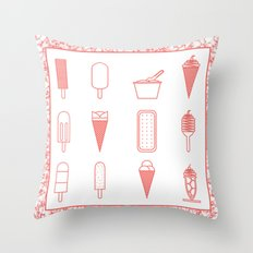 Ice creams (alternate version) Throw Pillow