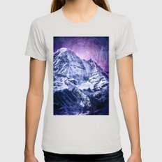 Another Sky Womens Fitted Tee Silver SMALL