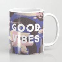 Good Vibes Abstract Camo Pattern Mug