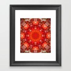 Strawberry Days Mandala Framed Art Print
