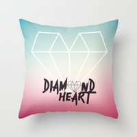 Diamond Heart Throw Pillow