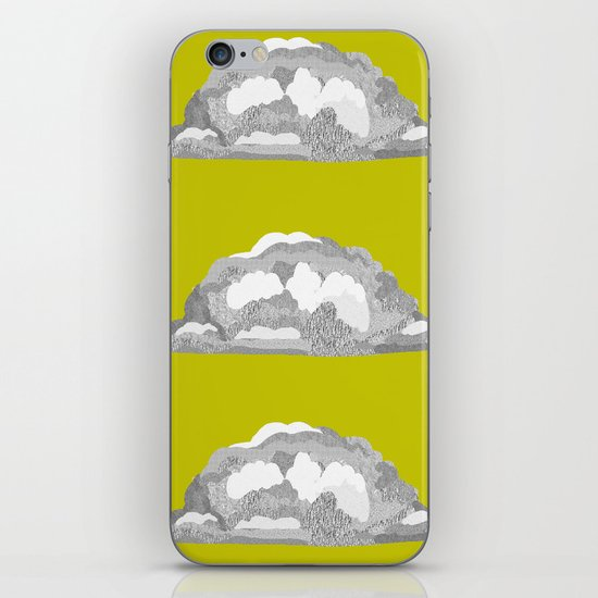 Cloud on Goldenrod iPhone & iPod Skin