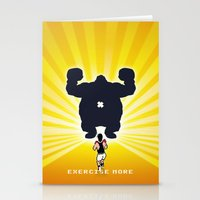 Exercise more. A PSA for stressed creatives. Stationery Cards
