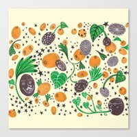 Citrus Universe Canvas Print