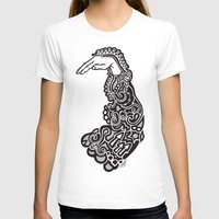 Doodle Sleeve Womens Fitted Tee White SMALL