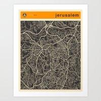 JERUSALEM MAP Art Print
