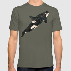 Killer Whale Mens Fitted Tee Lieutenant SMALL