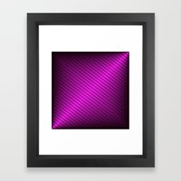 Purple Oblique Stripes Framed Art Print