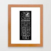 MAYAN GLYPH Framed Art Print