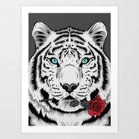 rose Art Prints featuring Rose by Roland Banrevi