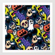 Spooky Pattern Art Print