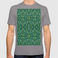 Forest Green & Teal Mosa… Mens Fitted Tee Tri-Grey SMALL