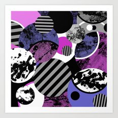 an-ARC-hy! (Abstract, geometric, sphere, circle, pop art, chaotic, eclectic, random artwork) Art Print