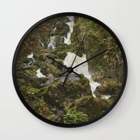 Lodore Falls Waterfall A… Wall Clock