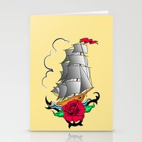 ship Stationery Cards featuring ship by mark ashkenazi