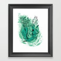 THE WOODS WHERE YOU LIVE… Framed Art Print