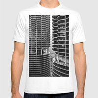 Bertrand's Buildings Mens Fitted Tee White SMALL