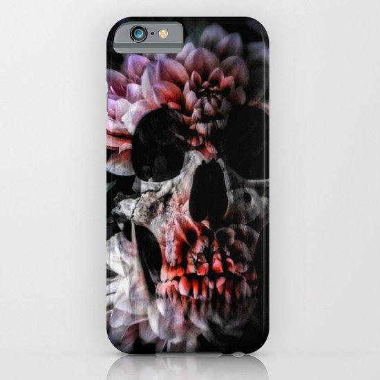 flower skull iPhone & iPod Case