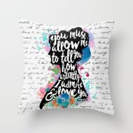 Mr. Darcy - Ardently Adm… Throw Pillow