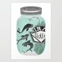 IN A PICKLE Art Print