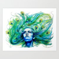 Metamorphosis-peacock Art Print