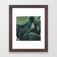 Prickly Pear Leaves Fine… Framed Art Print