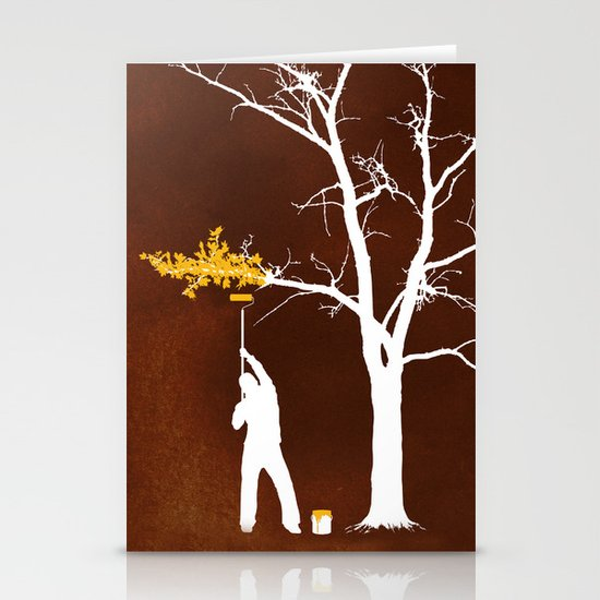 Relief Painting Stationery Card