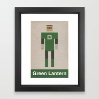 Retro Green Lantern Framed Art Print