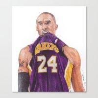 Kobe24  Ballpoint Pen Dr… Canvas Print