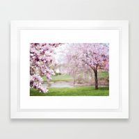 Dreamy Magnolia's Framed Art Print