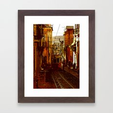 calcada da bica pequena  Framed Art Print