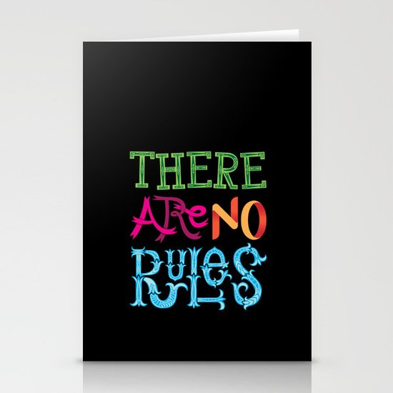 There are no Rules Stationery Card