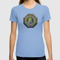Banana Creme Pie Panda Womens Fitted Tee Athletic Blue SMALL