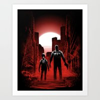 Quarantine: Joel And Ell… Art Print