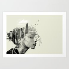 New York City reflection Art Print